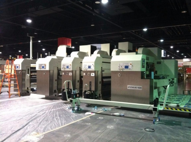 moving corrugated machinery into Super Corr Expo