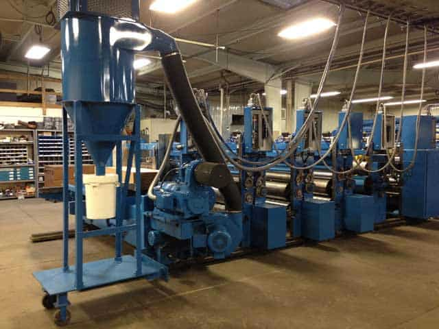 Reconditioned Ward corrugated machinery